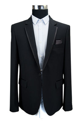 China Tuxedo Mens Slim Fit Blazers Bespoke Business Wedding Suit Long Sleeves supplier