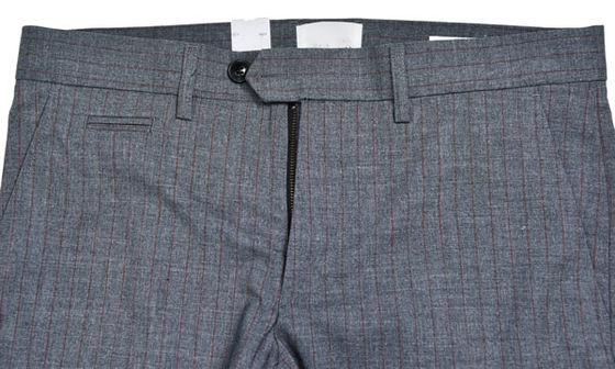China Straight Mens Slim Fit Suit Trousers Office Wear Grey Check Color All Season supplier