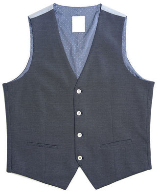 China 65% Polyester Mens Tailored Vest Dark Grey Color Office Business Adults supplier