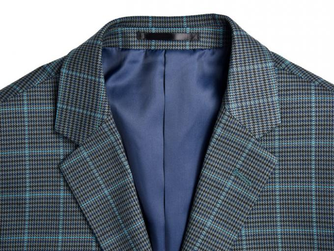 Custom Size Mens Tailored Fit Suits For Autumn and Winter Navy Check