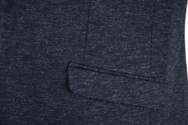Black Blazer For Men Cotton Polyester Material Knitting Fabric Navy