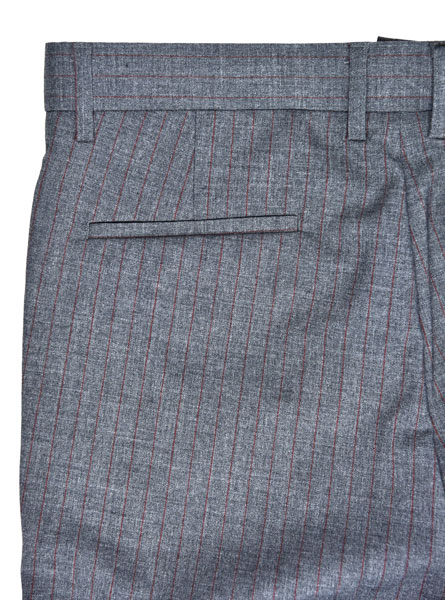Straight Mens Slim Fit Suit Trousers Office Wear Grey Check Color All Season